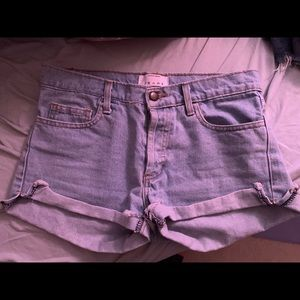 American Apparel light wash shorts size 25